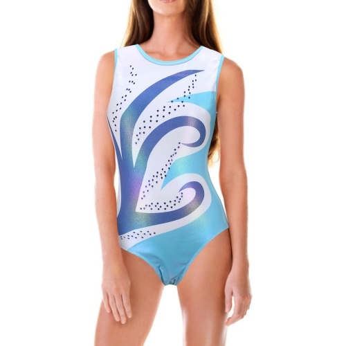 Girls Dance Bodysuit Girls Gymnastics Compressed Sleeveless Bodysuit Pull On Ballet Outfit