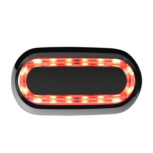 Bicicleta Luces traseras de freno con detección inteligente USB recargable multifunción Luz al aire libre Herramienta de ciclismo nocturno Luces de advertencia impermeables