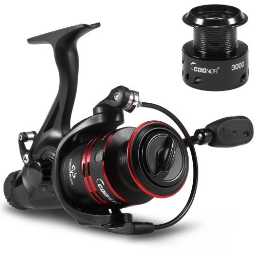 9 + 1 BB Smooth Fishing Reels Leichte Spinning-Angelrolle mit Ersatz-Plastikspulen-Angelgerät