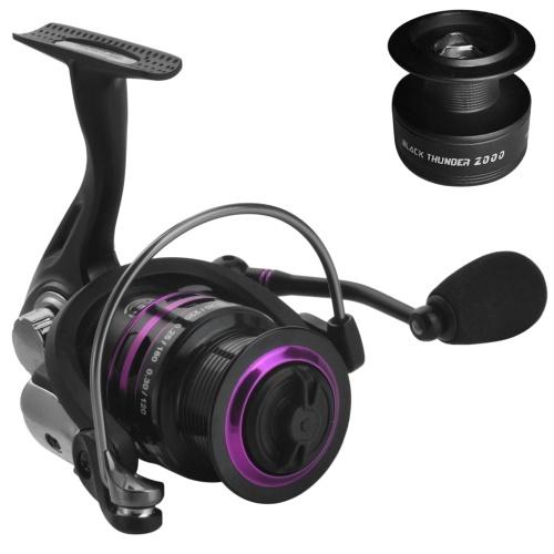 Carp Spinning Fishing Reel 1000/2000/3000 Series 5+1BB Ultralight Saltwater Fishing Reel with Free Spare Plastic Spool
