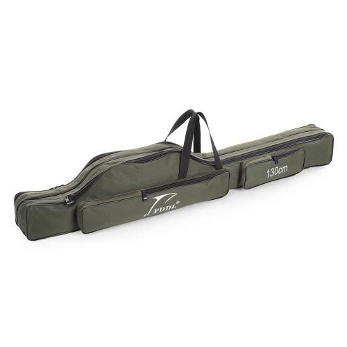 Pêche pliante Portable Rod Transporteur Canvas Pêche Pole Rangements Bag Case engins de pêche Tackle