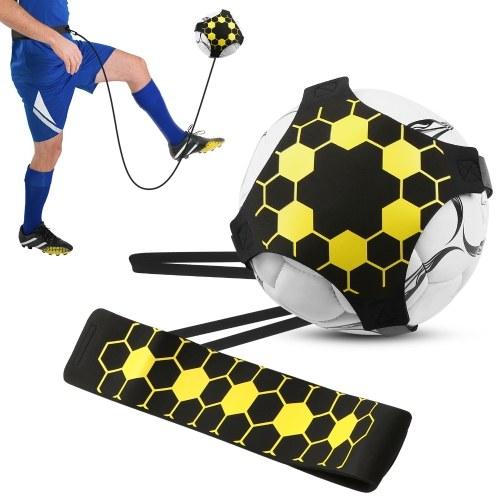 Fußballtrainer Fußball-Kick-Trainer Solo üben Fußballtrainingshilfe mit verstellbarem Gürtel Fußballtrainingsgerät aller Größen
