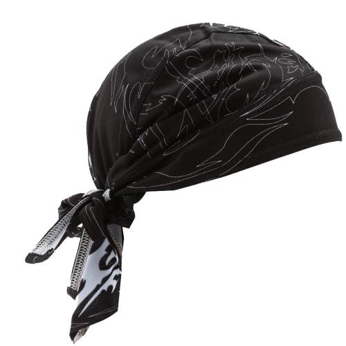 Männer schwarze Outdoor Sport Fahrrad atmungsaktiv Hat Quick-Dry Bike Radfahren Kopftuch Pirat Schal Stirnband