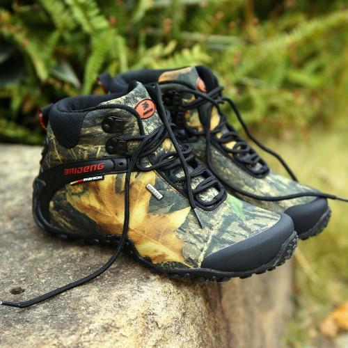 Camuflaje Zapatos al aire libre profesional Escalada Botas de Hombre Zapatos de senderismo Zapatos Deportes resistentes al agua