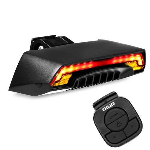 Smart Bike Tail Light with Turn Signals Wireless Remote Control Bicycle Rear Light Cycling USB Rechargeable Safety Warning Tail Light Image