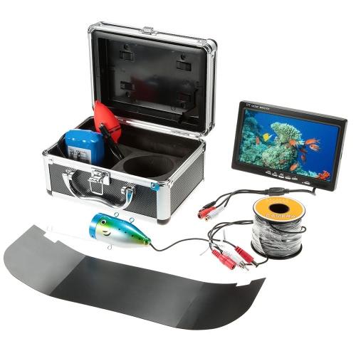 """7 """"TFT LCD монитор 800TVL Портативный ИК ночного видения светодиодные управления эхолота Подводная охота камера с 30M / 50M кабель"""