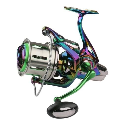 Carretel giratório 18 + 1BB de 4,8: 1 de relação de velocidade Carretel de pesca pesqueira grande com alça direita e esquerda dobrável intercambiável