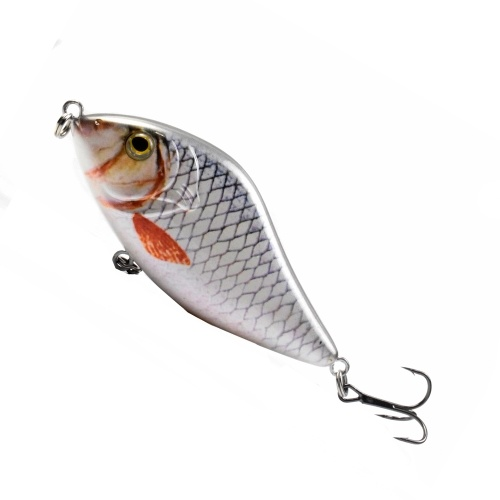 LIXADA  Minnow Crankbait Hard Fishing Lures with Treble Hook Life-Like Swimbait Fishing Bait 3D Eyes Artificial Baits 3.9 in / 1.6 oz Image