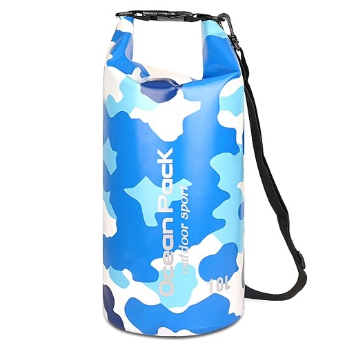 5L Waterproof Dry Bag Roll Up Dry Compression Sack Large Capacity Bucket Bag For Camping Drifting Swimming