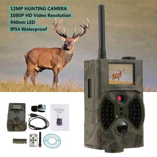 Docooler Trail Camera GPRS/MMS/SMS Function Digital Infrared Water Proof Scouting Surveillance Hunting Camera 940NM IR LED HC300M