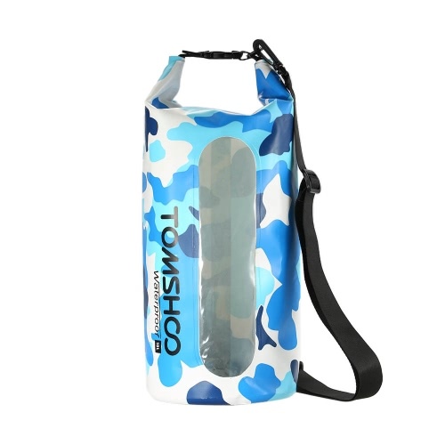 TOMSHOO 10L / 20L Outdoor Water-Resistant Dry Bag Sack Storage Bag with Waterproof Phone Case for Travelling Rafting Boating Kayaking Canoeing Camping Snowboarding