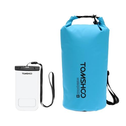 Borsa TOMSHOO 10L / 20L Outdoor Water-Resistant Dry Sack Borsa di immagazzinaggio con il caso del telefono impermeabile per Viaggiare Rafting Kayak Canoa Nautica Campeggio Snowboard