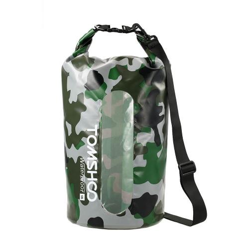 TOMSHOO 10L / 20L Открытый водоустойчивые сухой мешок мешок сумка для хранения с водонепроницаемый телефон чехол для Путешествия Рафтинг Катание на лодках Каякинг Каноэ Кемпинг спорт