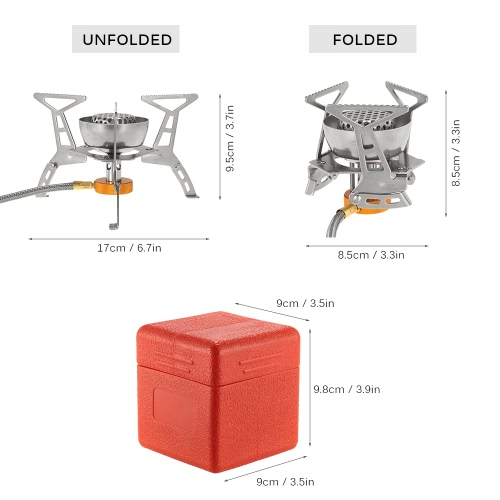 Lixada Camping Gas Stove 3200W Foldable Windproof Camp Cooking Butane Burner Split Furnace Portable Outdoor Backpacking Stove with Storage Case