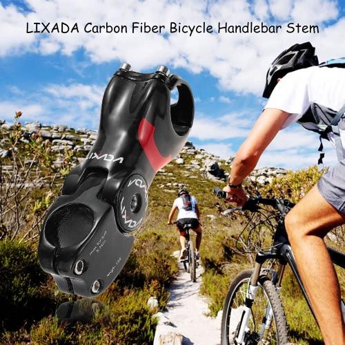 Lixada углеродного волокна MTB велосипед Handlebar Шток 90/100/110/120 / 130mm 31.8mm