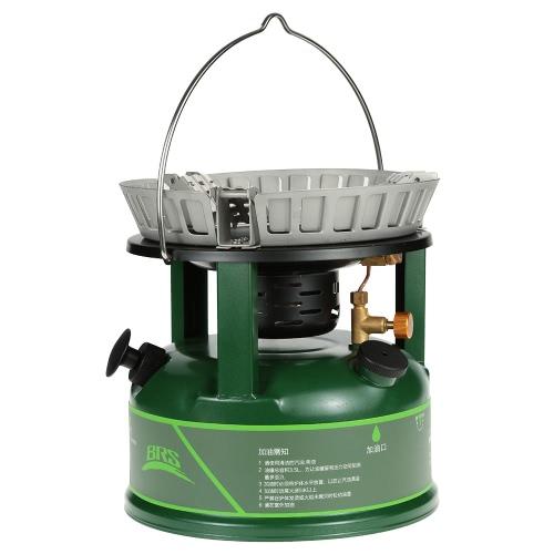 BRS súper potente estufa de aceite de cocinar al aire libre compacto Estufa caldera utensilio de utensilios de cocina que queman petróleo para picnic 5-30 Personas Recorriendo el BRS Gasolina Diesel