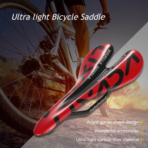 Lixada fibra de carbono total Montaña bici del camino de la bici del amortiguador de asiento de la silla de montar de la bicicleta