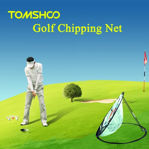 TOMSHOO Tragbare 20-Zoll-Golf Training Chipping Net Schlagen Aid Praxis Indoor Outdoor-Tasche