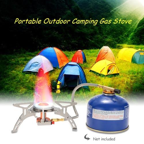 Docooler Tragbare Campingkocher Gasherd Außen Brenner-Kocher-Ofen mit Piezo-Zündung Ultrakompaktlager für Outdoor Backpacking Camping Jagd