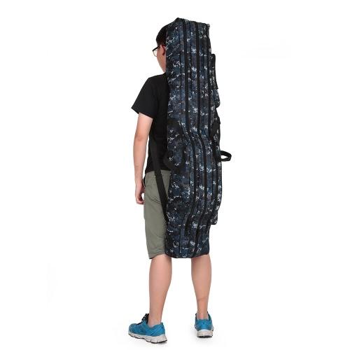 Pieghevole di pesca portatile Rod Carrier tela di canna da pesca Strumenti sacchetto di caso di immagazzinaggio Attrezzatura da pesca Tackle