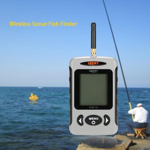 Portatile professionale sirena senza fili del sonar Fish Finder Pesca sonda Detector fishfinder con matrice di punti
