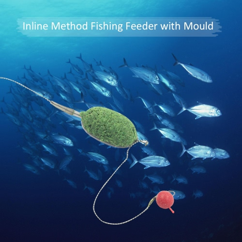 Hybrid Inline Method Fishing Feeder Set Bream Carp Tench Coarse Fishing Tackle with Bait Mould 25g/30g/40g/50g