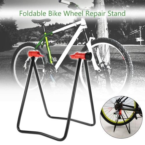 Fahrrad-Fahrrad-Zyklus Faltbare Radnabenmontageständer Bodenstehender Parkplatz-Halter-Ausstellungsstand Outdoor Radfahren Reiten