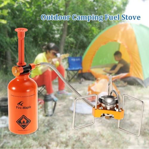 Outdoor-Camping-Kraftstoff Herd Flüssigbrennstoff-Brenner-Ofen Wandern Backpacking Picknick mit Brennstoffflasche Pump