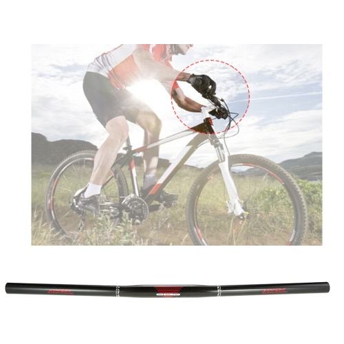 Lixada Bicycle Handlebar Carbon Fiber Mountain Bike Road Bike BMX Folding Bicycle Handle Bar Flat Bar 580mm/600mm/620mm