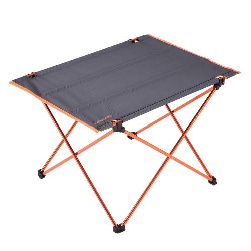 Aluminio portable al aire libre Mesa plegable ultraligero Oxford Tela Mesa plegable con el bolso de excursión que acampa de la comida campestre