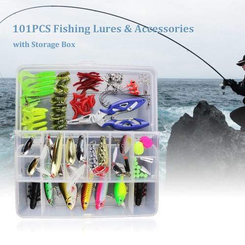 Набор для приманки для рыбной ловли 101PCS с ящиком для хранения