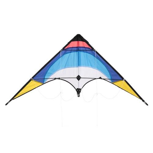 1.3m Красочные змея двойная линия Stunt Kite двойная линия кайт Стекловолокно кадров Кайт Начинающие начинающих Лучший Flyer East в собранном виде