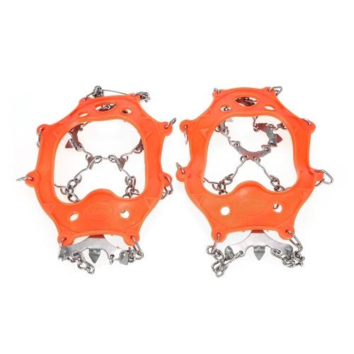 1 paio 13 Racchette da denti Ramponi antiscivolo Copertura in acciaio inox Dispositivo di trazione a ramponi Sci esterno Ghiaccio Escursionismo