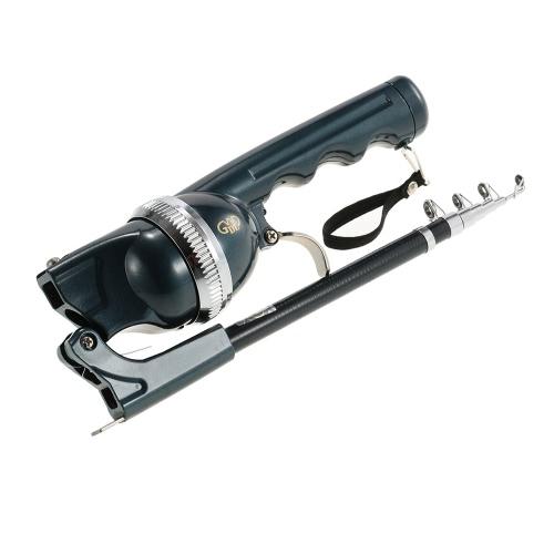 Lixada 158cm Folding Mini Fishing Rod Foldable Telescopic Fighing Pole Portable Fishing Rod Reel Combo with Fishing Line Carp Fishing Tackle Image
