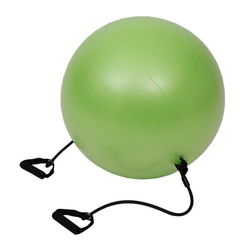 65см упражнения фитнес Зеленый Йога Баланс Тренер Бал Обучение BallYoga мяч с Сопротивление Группы Насос для Пилатес Йога тренировки Фитнес
