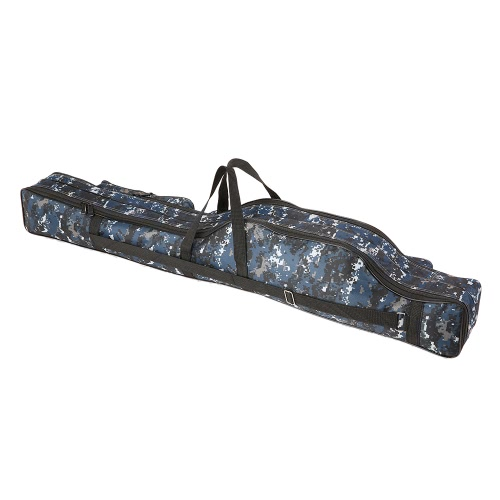 Bolso de pesca trastos 90 / 110cm Portable Fishing Rod señuelos Bolsa de almacenamiento de múltiples capas de doble capa de pesca al aire libre