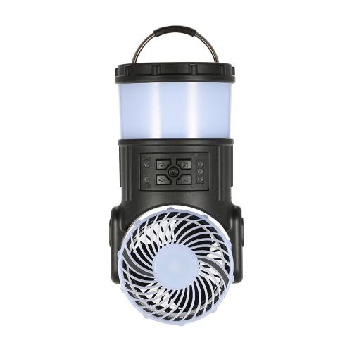 Outdoor-Camping-Laterne bewegliche nachladbare LED-Zelt-Laterne-Licht-Lampe Multi-Function mit Lüfter-Radio MoskitoRepeller für Angeln Wandern