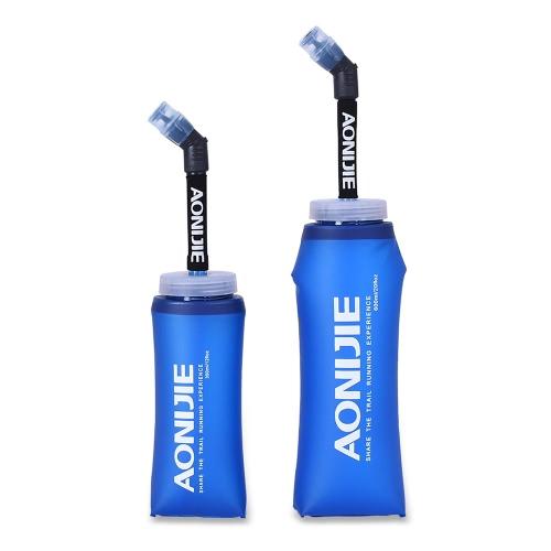 AONIJIEスポーツ折りたたみ式ウォーターボトル