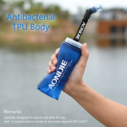 AONIJIE Sport Botella de agua plegable