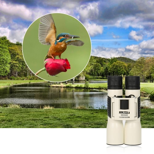30x40 compatto ad alta potenza binoculare anti-fog HD binoculare telescopico Occhiali caccia Birdwatching fauna selvatica Canottaggio con lente panno sacchetto di trasporto cordino