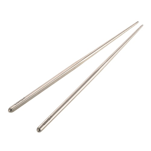 Lixada 1 Pair of Titanium Lightweight Ultra-strong Square Reusable Chopsticks with Carrying Pouch Camping Utensils Outdoor 195mm/230mm