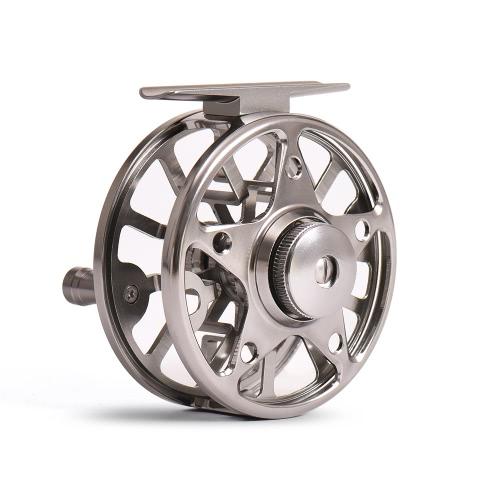 2 + 1 rodamientos a bolas BB relación de transmisión 1: 1 de la mosca Carrete de la pesca carretes de la pesca del hielo derecha / mano izquierda Conversión vuela carretes de aleación de aluminio Carrete