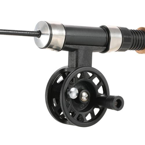 Relación de transmisión 1: 1 de la mosca Carrete de pesca de hielo carretes de la pesca con mosca Carretes Carretes ABS Accesorios de aparejos de pesca Zurdo