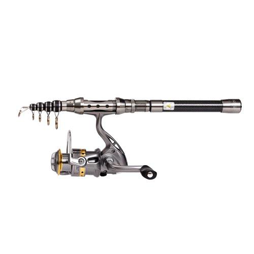 Lixada Telescopic 1.8m Fishing Rod and Reel Combo Full Kit