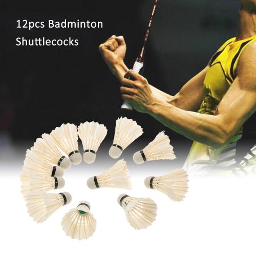 12st badmintons Ente / Gans-Feder-Hahn / Schaumkrone Shuttle Cocks Federbälle Set Badminton Ballspiel mit Speicherrohr
