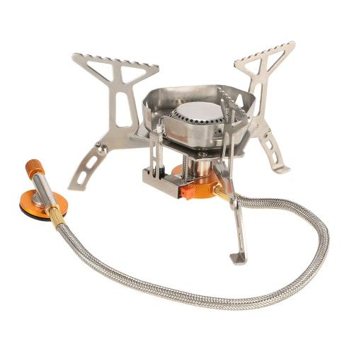 TOMSHOO Кемпинг Газовая плита Портативная напольная плита Складная газовая плита Складная сплит-горелка с коробкой фото