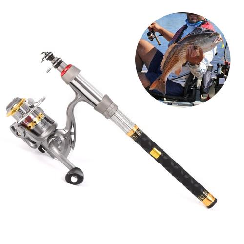 Lixada Telescopic Fishing Rod and Reel Combo Full Kit Spinning Fishing Reel Gear Organizer Pole Set Image
