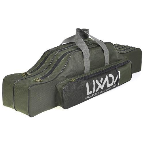 Lixada 130cm Portable Folding Fishing Rod Reel Bag Tackle Tool Carry Storage