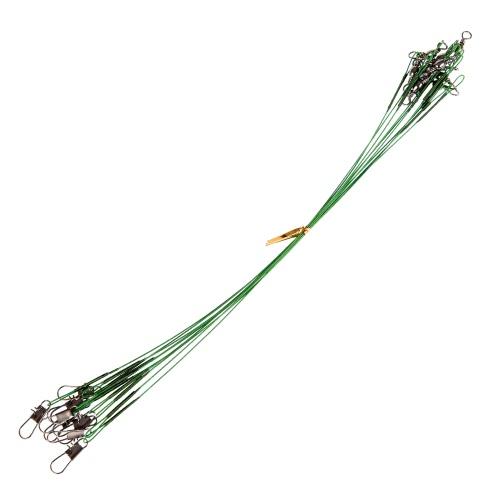 Lixada 10PCS  Fishing Trace Spinner Fishing Wire 20cm