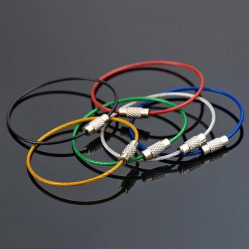 10Pcs buntes Edelstahl-Draht Keychain Seil-Schlüsselketten-Flugzeug-Zahnrad-Kabel-Ring-Schlüsselring für im Freien wandern